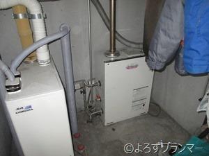 撤去する前の暖房ボイラー